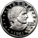 1981 Proof Susan B Anthony Dollar - Type 1
