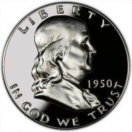 1950 Proof Franklin Half Dollar