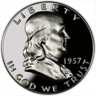 1957 Proof Franklin Half Dollar