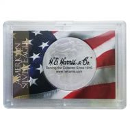 H.E. Harris 2x3 Silver Eagle Frosted Case Holder - Flag