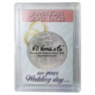 H.E. Harris 2x3 Silver Eagle Frosted Case Holder - Wedding