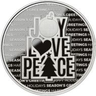 2021 Sentiments of the Holidays 1 oz. Silver Round