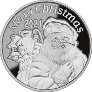 2021 St. Nicholas' Toy Delivery 1 oz. Silver Round