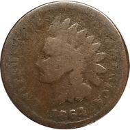 1864 L Indian Head Penny - AG (About Good)
