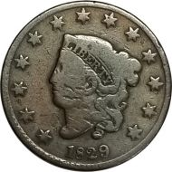 1829 Large Cent - VG (Very Good)