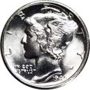 1940 S Mercury Dime - BU (Brilliant Uncirculated)