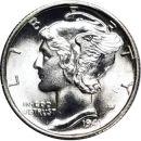 1941 S Mercury Dime - BU (Brilliant Uncirculated)