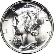 1944 Mercury Dime - BU (Brilliant Uncirculated)