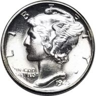 1945 D Mercury Dime - BU (Brilliant Uncirculated)