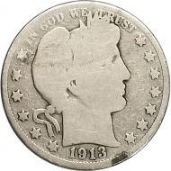 1913 Barber Half Dollar - G (Good)