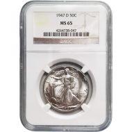 1947 D Walking Liberty Half Dollar - NGC MS 65