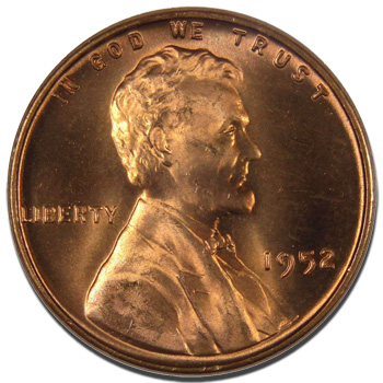 1952 Lincoln Wheat Penny Brilliant Uncirculated Buying