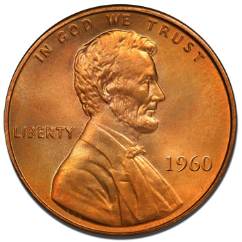 Proof Uncirculated 1960 Lincoln Memorial Cent  P
